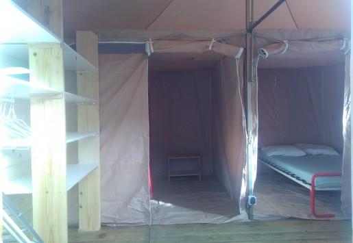 Photo du bungalow du camping au coeur de l'Ardèche