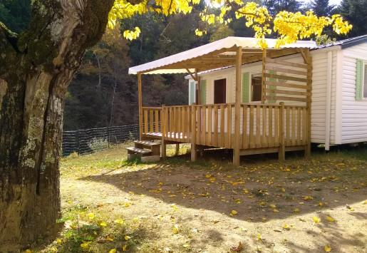 Photo du mobil-home 4 places du camping au coeur de l'Ardèche
